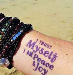 |[ I trust myself. I am peace and joy.  ]| -- wanderlustwrists.etsy.com  Link to shop in bio > This inspirational pic comes from a very special woman that is very dear to me-- @dianehermary  You are always living life to the fullest and see the positive in everything.  Thanks for repping my bracelets on your adventures in Mexico! #bracelet #bracelets #jewelry #accessories #handmade #handmadejewelry #chanluu #wrapbracelet #gemstone #crystal #bohemian #hippie #gypsy #travel #explore #adventure…