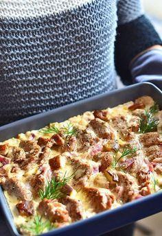 Polędwiczki wieprzowe w sosie grzybowo-cebulowym - etap 1 Pork Recipes, Cooking Recipes, Big Meals, Pork Dishes, My Favorite Food, Food To Make, Sandwiches, Good Food, Food And Drink