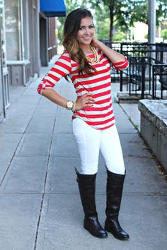 Southern Prep Top - Red