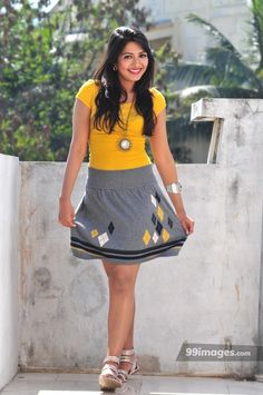 Catherine Tresa Hot Pictures in Yellow Top & Skirt. Telugu Actress Catherine Tresa Hot Pictures in Yellow Top & Mini Skirt Indian Bollywood Actress, Indian Film Actress, Indian Actresses, Actors & Actresses, South Actress, South Indian Actress, Beautiful Indian Actress, Beautiful Women, Short Frocks