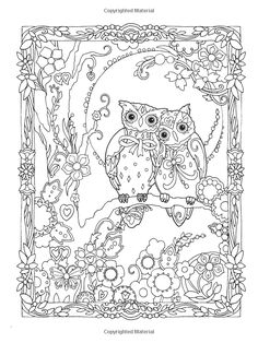 Creative Haven Owls Coloring Book artwork by Marjorie Sarnat Coloring pages colouring adult detailed advanced printable Kleuren voor volwassenen coloriage pour adulte anti-stress