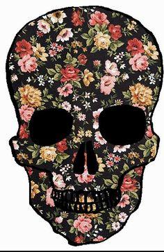 #skull #illustration #flowers