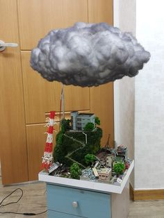 Created by diorama artist Moon-Pong, south korea Creative School Project Ideas, School Science Projects, Stem Projects, Science Experiments Kids, Art Projects, Tornado Craft, Diy For Kids, Crafts For Kids, Diy Crafts