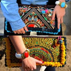 Mien clutch D-BOHO. Thailand collection, ethnic beautiful handmade clutches