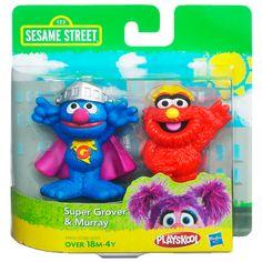 PLAYSKOOL SESAME STREET Super Grover & Murray 2-Pack