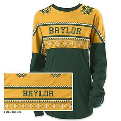Baylor University Women's Long Sleeve Holiday Ra Ra Shirt // Great alternative to an itchy ugly Christmas sweater!