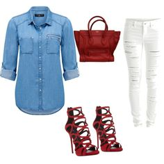 A fashion look from March 2015 featuring Forever New tops, VILA jeans and Giuseppe Zanotti sandals. Browse and shop related looks.