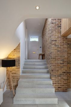 De Beauvoir Road by Scott Architects - Modern home design Interior Stairs, Interior And Exterior, Style At Home, Architecture Design, Contemporary Architecture, Contemporary Design, Victorian Terrace House, Timber House, House Entrance