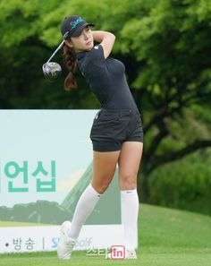 Sport Fashion, Girl Fashion, Swimming Sport, Athletic Body, Bigger Breast, Ladies Golf, Female Athletes, Asian Woman, Korea