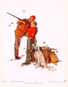 Careful Aim Print by Norman Rockwell at Art.com