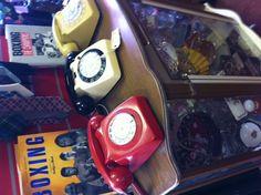 Vintage phones in Maud's, Bexhill