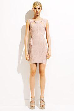 Herve Leger Bandgae Beige-Jennifer Lopez [HLBD_12122802] - Herve Leger Dress, Herve Leger Sale!