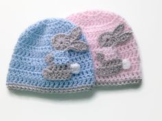 Twin Easter baby hats , rabbit baby hat, bunny baby beanie. Going home outfit, Easter baby outfit, boy girl twin hats Crochet baby hat by BabyBunnies4 on Etsy https://www.etsy.com/listing/262640845/twin-easter-baby-hats-rabbit-baby-hat
