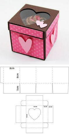 para un cupcake - - Adam . - Origami -Scrapbook para un cupcake - - Adam . Diy Gift Box, Diy Box, Diy Gifts, Gift Boxes, Scrapbook Box, Paper Box Template, Box Templates, Papier Diy, Box Patterns
