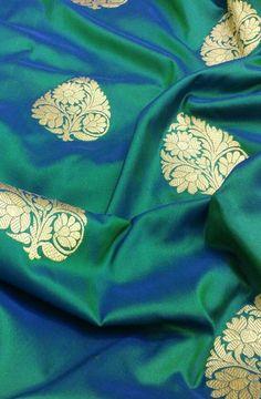 Discover thousands of images about Green Handloom Banarasi Pure Katan Silk kadwa Saree Kanjivaram Sarees Silk, Blue Silk Saree, Kanchipuram Saree, Soft Silk Sarees, Yellow Saree, Saree Blouse Patterns, Saree Blouse Designs, Indian Beauty Saree, Indian Sarees