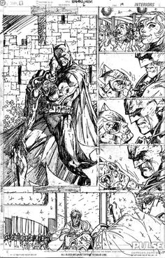 Hush page by Jim Lee batmandrawing Batman Drawing, Drawing Superheroes, Batman Art, Batman And Superman, Comic Book Pages, Comic Book Artists, Comic Artist, Comic Books Art, Jim Lee Batman