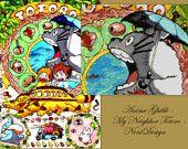 Anime Ghibli My Neighbor Totoro - cross stitch pattern - PDF pattern - Instant download!