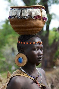Africa, Ethiopia, Omo Valley, Mursi Tribe