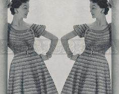 vintage BLOUSE SKIRT & belt crochet pattern 50s PDF by borisbeka, $3.75