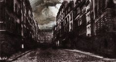 """""""Barricade Street"""" by Victor Hugo Victor Hugo, Ink Master, Mystique, Family Events, Modern Art, Tours, Street, Drawing Style, Architectural Drawings"""