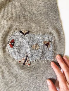 Cross Stitch Embroidery, Hand Embroidery, Visible Mending, Make Do And Mend, Fabric Manipulation, Textile Art, Needlework, Knitting Patterns, Sewing Projects