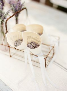 definitely need book pages for lavender tossing