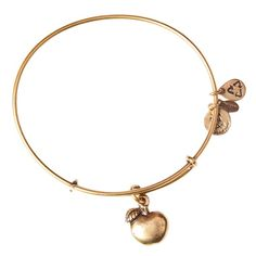 Alex and Ani Apple of Abundance Expandable Wire Bangle - Russian Gold - Single Charm Bangles - Bracelets