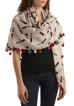 love this scarf buy not willing to pay $90. just get 52x52 in of fabric and add pom pom detail to the edge