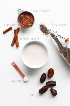 Chocolate Chia Seed Pudding Ingredients #vegan #glutenfree