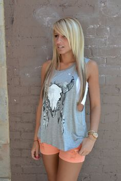 Love the shirt but it wood look better with jean shorts and cowgirl boots  ~~country fashion~~