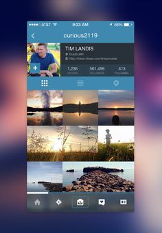 Instagram Profile Page Redesign for iOS7