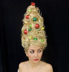 Holiday Hair!  haha! i'm going to show up to my in-laws wearing this do!