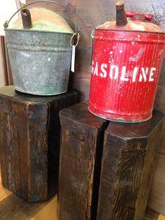 $65. Vintage gas & kerosene cans