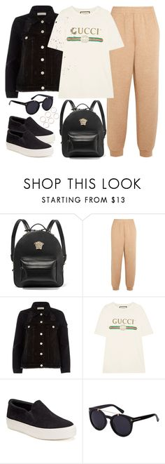 """Sem título #192"" by free22 ❤ liked on Polyvore featuring Versace, See by Chloé, River Island, Gucci and Candie's"