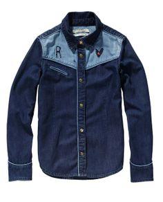 Lightweight Denim Shirt > Kids' Clothing > Girls Shirts bij Amsterdams Blauw