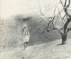 Andrew Wyeth, study for In the Orchard