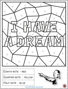Free printable Dr. Martin Luther King, Jr. coloring sheet is one of ...