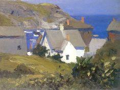 Monhegan Houses Maine,  Edward Hopper