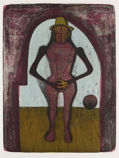 Artwork by Rufino Tamayo, Femme au collant rose, Made of Lithograph in colours