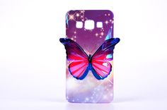For Samsung Galaxy A3 Case Women's Style 3D Butterfly Pattern Colorful Cover For Samsung Galaxy A3 For Samsung A3 2015 SM-A300 }