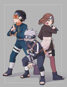 Minato Y Kushina, Team Minato, Kakashi And Obito, Tobi Obito, Naruto Sasuke Sakura, Sarada Uchiha, Naruto Shippuden Anime, Anime Naruto, Shikamaru