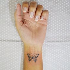 Butterfly Tattoo Ideas You Will Love; Back Butterfly Tattoo; Little Tattoos, Mini Tattoos, Leg Tattoos, Body Art Tattoos, Small Tattoos, Tattoo Arm, Tatoos, Best Wrist Tattoos, Small Pretty Tattoos