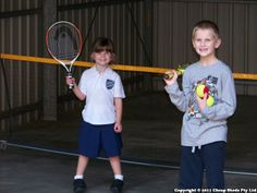 Garage turned indoor Tennis court for kids! Proud parents moved all their gear into their new shed so the kids could play tennis in their backyard! Indoor Tennis, Play Tennis, Tennis Online, Could Play, Tennis Racket, Parents, Garage, Backyard, Sports
