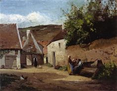 Village Corner - Camille Pissarro