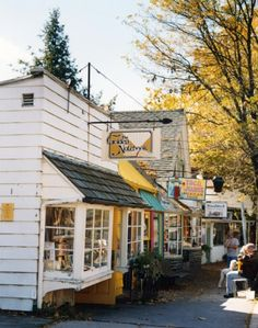 corner store in the fall