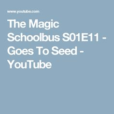 The Magic Schoolbus S01E11 - Goes To Seed - YouTube