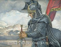 Tolkien originale acquerello - secondo nero - Signore degli anelli come visto in MECCG - regalo unico per ogni fan di Tolkien