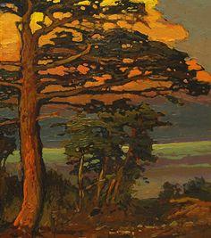 Jan Schmuckal - Work Zoom: Against The Sea Craftsman Paintings, Landscape Art, Landscape Paintings, Paintings I Love, Tree Art, Art And Architecture, Art Oil, Painting Inspiration, Amazing Art