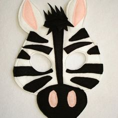 Children's ZEBRA Felt Animal Mask                                                                                                                                                                                 More