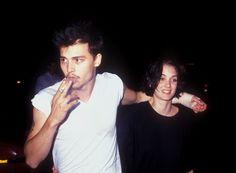 Le style Nineties de Johnny Depp avec Winona Ryder, t-shirt blanc